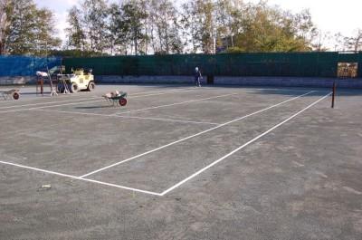 テニスコート整備③.JPG