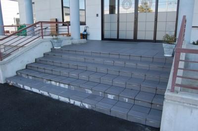 階段アク取り①.JPG